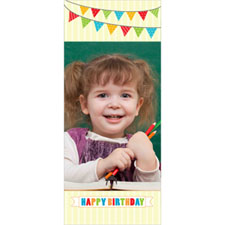 Separador lenticular personalizable con fotografía y diseño de cumpleaños