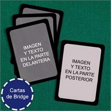 Naipes tamaño Bridge personalizados (Cartas en blanco) con marco negro