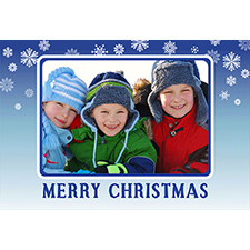 Personalizado azul Tarjeta de felicitación lenticular de Navidad