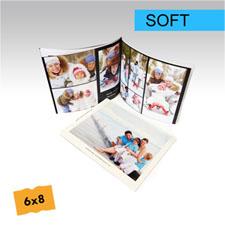 15.24 cm x 20.32 cm Crea y personalice su foto-libro de tapa suave