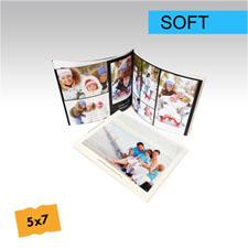 12.70 cm x 17.78 cm Crea y personalice su foto-libro de tapa suave