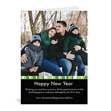 Green Merry Miracle Personalized Portrait Photo Christmas Card