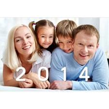Tarjeta de felicitación lenticular personalizada del Año Brillante