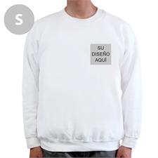 Personalizado Imprima su logotipo blanco Sudadera, S