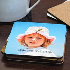 Portavasos de corcho personalizado con fotografía