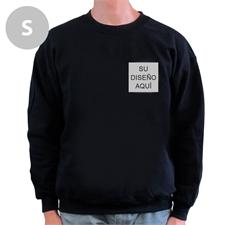 Diseño personalizado Imprima su logo Sudadera negra, S