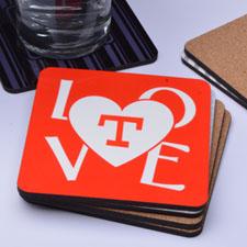 Portavasos de corcho personalizado con diseño