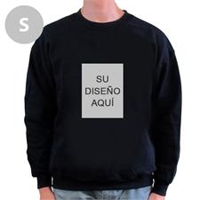 Custom Portrait imagen personalizados negro Sweatshirt, S