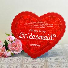 Bridesmaid Personalizado Heart Shape Puzzle