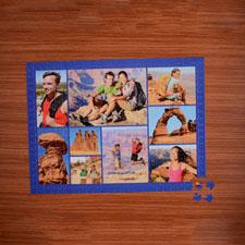 Rompecabezas con colage de color azul marino de 9, de 18 X 24 y con foto