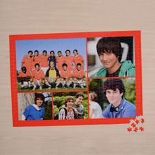 Orange Five colage 18 X 24 Photo Puzzle