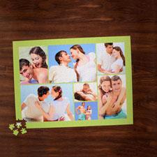 Rompecabezas con colage de color verde lima de 7 con foto de 18 X 24