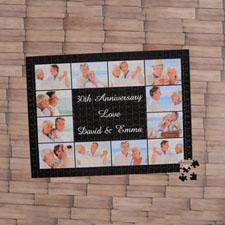 Rompecabezas negro con colage de 12,  45.72 cm x 60.69 cm Rompecabezas con foto