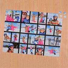 Rompecabezas negro con colage de 20 y de 45.72 cm x 60.96 Rompecabezas con foto