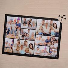 Rompecabezas negro con colage de 10 y con 1000 piezas 50.17 cm x 71.12 cm Rompecabezas personalizado
