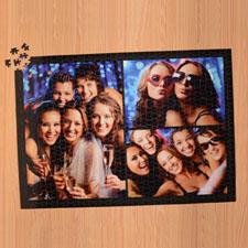 Rompecabezas negro con colage de 3 con 1000 piezas 50.17 cm x 71.12 cm Rompecabezas personalizado