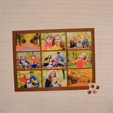 Colage de 9 modelo chocolate con 1000 piezas de 50.17 cm x 71.12 cm Rompecabezas personalizado como regalo
