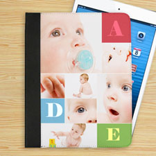 Personalized Color Text Box & Seven Collage Folio Case