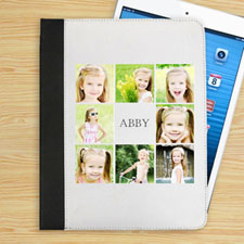Personalized White Eight Collage Folio Case