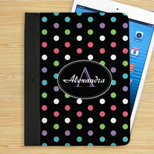 Personalized Color Polka Dot Personalized Name Folio Case