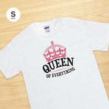 Camiseta blanca para adultos con impresión personalizada de