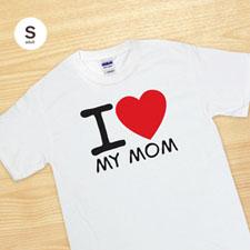 Impresión personalizada de la camiseta I Love blanco Adult pequeño