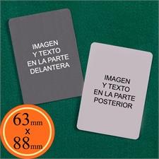 63 x 88 mm naipes personalizables (Cartas en blanco)