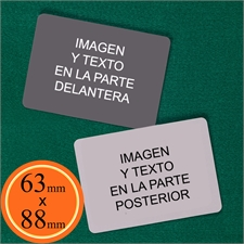 63 x 88 mm naipes personalizables (Cartas en blanco) Paisaje