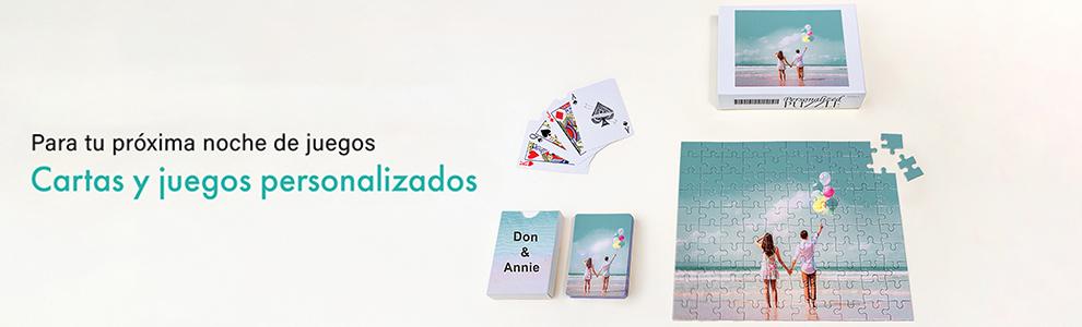 Personalice naipes, cartas de juego y rompecabezas