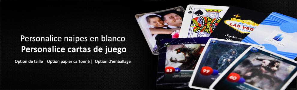 Personalizar cartas de juego y naipes