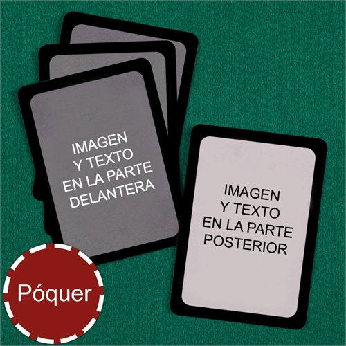 Naipes tipo póker personalizados Naies (Cartas en blanco) con marco negro