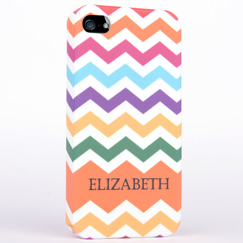 Personalized Colorful Colors Chevron iPhone 5 iPhone Case