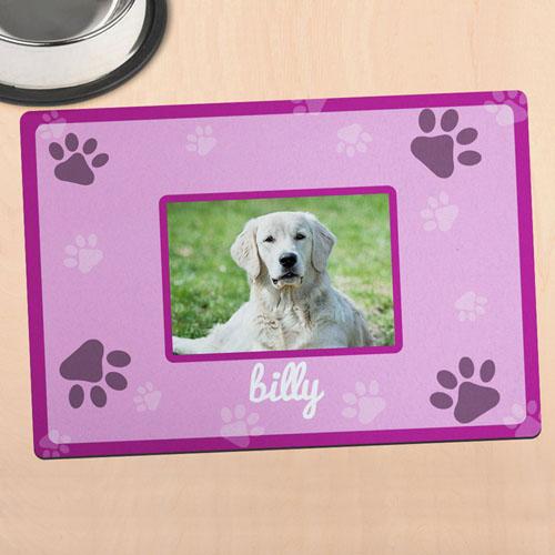 Alfombrilla de comida para mascota personalizada con fotografía