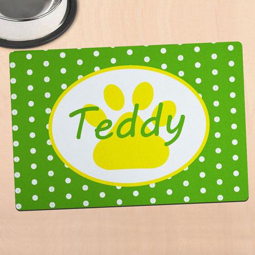 Alfombrilla de comida personalizada para mascotas diseño