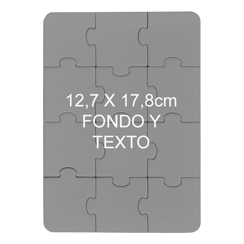 12.70 cm x 17.78 Rompecabezas magnetico con foto y de 12 piezas