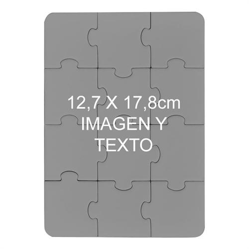 12.70 cm x 17.78 Rompecabezas personalizados y magentico con retrato