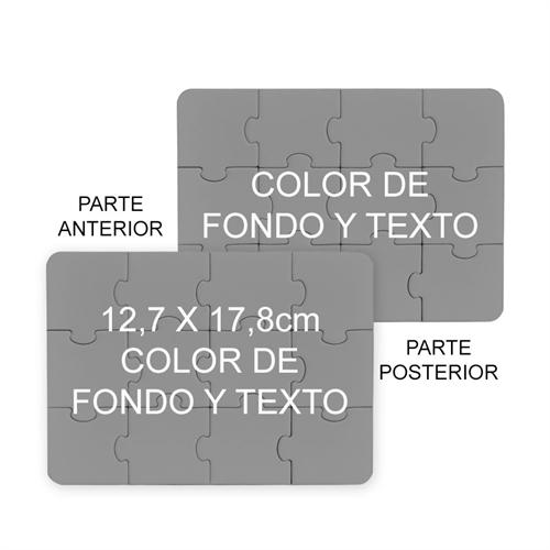 12.70 cm x 17.78 cm Rompecabezas de dos caras como invitaciones, color de fondo o imagen y terxto