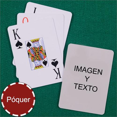Naipes póker con índice jumbo